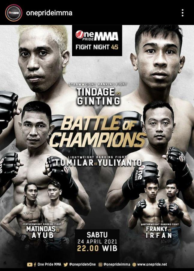 Lakoni Fight ke 2 di One PrideTV One, Franky asal Pekanbaru akan Bertarung Habis-habisan Malam Ini