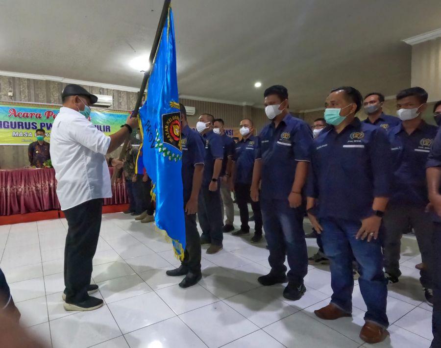 Lantik Pengurus PWI Rohil, Zulmansyah Pesan Jaga Marwah Wartawan Taat UU Pers dan KEJ