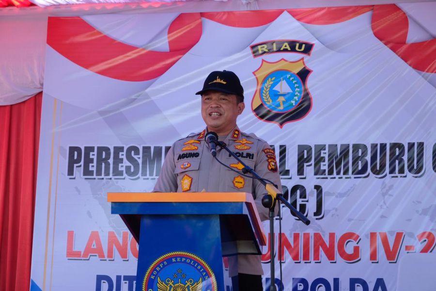 Polairud Polda Riau Resmikan KPC Lancang Kuning IV 2006 Saingan Kapal Hantu