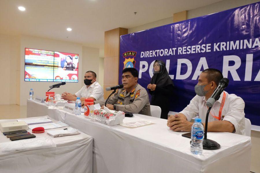 Polda Riau Ungkap Pelaku Penggelapan Dengan Jabatan dan Merugikan Pengusaha Sembako