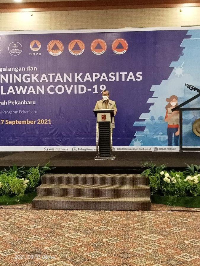 Satgas Relawan COVID-19 Tingkatkan Kapasitas 1000 Relawan Wilayah Pekanbaru