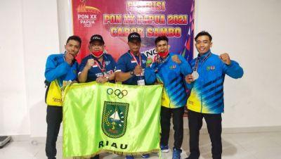 Luar Biasa Buat Atlet Sambo Riau , Sabet 4 Medali Emas dan 1 Perak Pada PON XX Papua 2021
