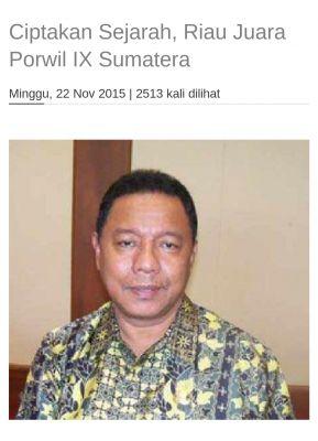Olahraga Riau Berduka, Ketua Umum KONI Riau Pak