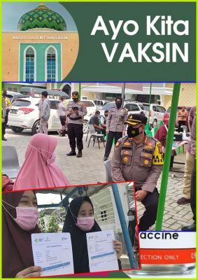 Pertama, Polresta Pekanbaru Vaksin Santri di Ponpes Miftahul Huda Binaan LDII Riau